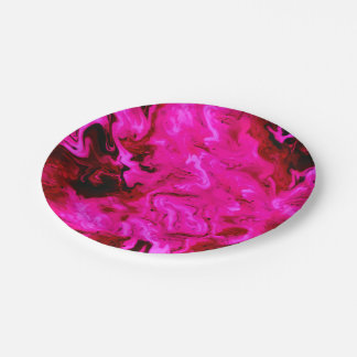 ピンクの大理石のアクリルの絵画 ペーパープレート