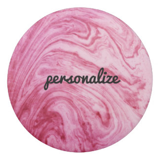ピンクの大理石の質パターンエレガントな美しい 消しゴム