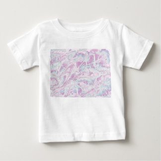 ピンクの大理石パターンベビーのTシャツ ベビーTシャツ