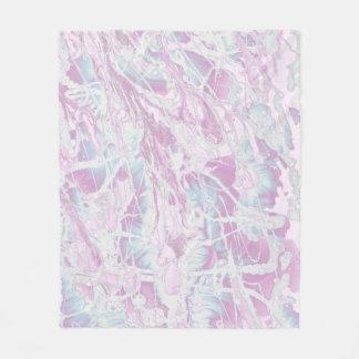 ピンクの大理石パターン毛布 フリースブランケット