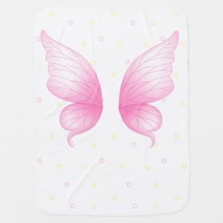 ピンクの天使によってはベビーブランケットが飛びます ベビー ブランケット