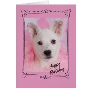 ピンクの天使のバースデー・カード カード