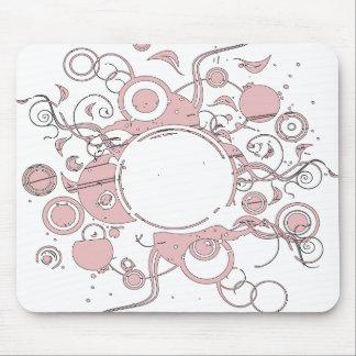 ピンクの太陽の マウスパッド