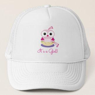 ピンクの女の子の鳥の性はベビーシャワーを明らかにします キャップ