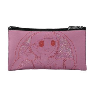"""ピンクの女の子らしい""""を""""たどって行ってバッグを構成して下さい コスメティックバッグ"""