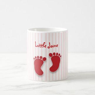 ピンクの女の赤ちゃん-ベビーシャワーの好意 コーヒーマグカップ