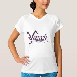 ピンクの女性のティーのサイズの小さいvettechのロゴ tシャツ