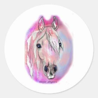ピンクの女性 ラウンドシール