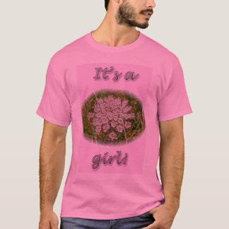 """ピンクの女王のアンレース""""女の子""""のTシャツ Tシャツ"""