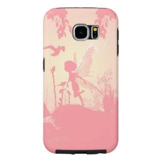 ピンクの妖精のシルエット SAMSUNG GALAXY S6 ケース