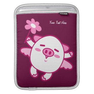 ピンクの妖精のブタ(カスタマイズ可能な) iPadスリーブ