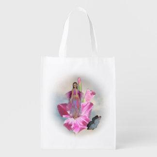 ピンクの妖精の再使用可能な買い物袋 エコバッグ