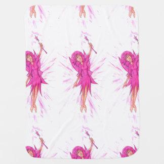 ピンクの妖精 ベビー ブランケット