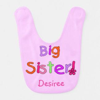 ピンクの姉のよだれかけ ベビービブ