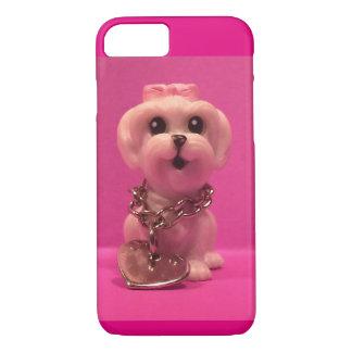 ピンクの子犬 iPhone 8/7ケース