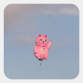ピンクの子猫 スクエアシール