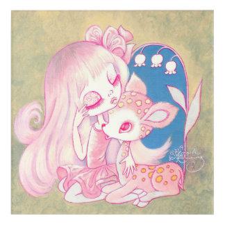 ピンクの子鹿の天国 アクリルウォールアート