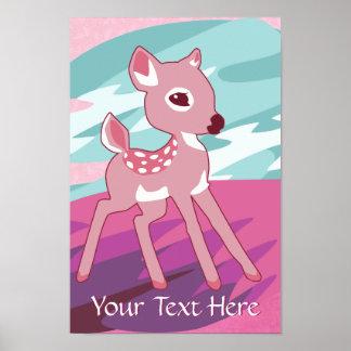 ピンクの子鹿ポスター ポスター