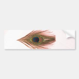ピンクの孔雀の羽 バンパーステッカー
