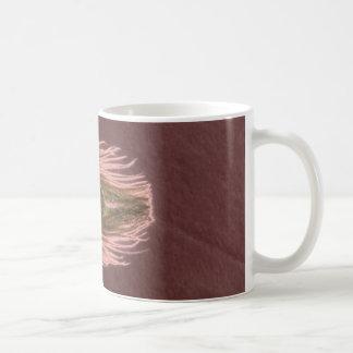 ピンクの孔雀の羽D コーヒーマグカップ