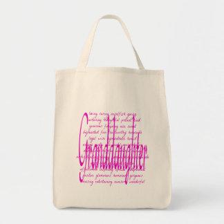 ピンクの孫娘のための単語 トートバッグ