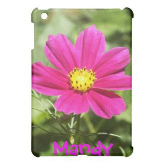 ピンクの宇宙の花のiPadの場合の*personalize* iPad Mini Case
