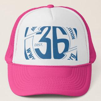 ピンクの完全な裁ち切りトラック運転手の帽子 キャップ