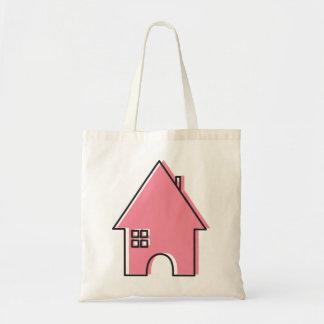 ピンクの家 トートバッグ