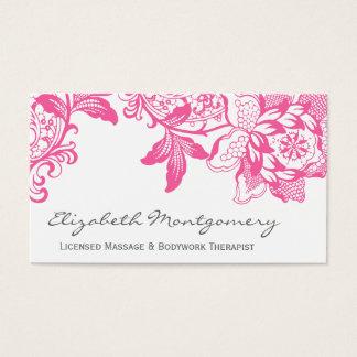 ピンクの専門のマッサージのヨガの名刺 名刺