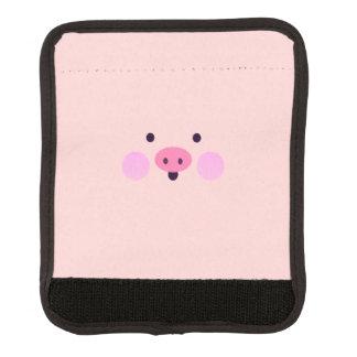 ピンクの小さく豚のようなラゲージハンドルラップ ラゲージ ハンドルカバー
