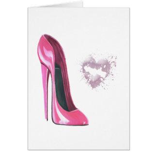 ピンクの小剣およびキス カード