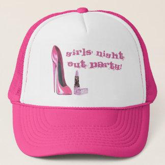 ピンクの小剣および口紅の女の子の夜はパーティを楽しみます キャップ