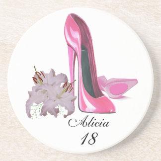 ピンクの小剣の靴およびユリカスタマイズ可能なCoaste コースター
