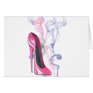 ピンクの小剣の靴 カード