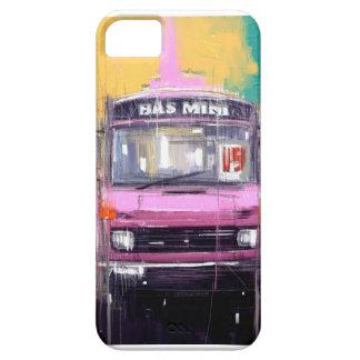 ピンクの小型バス iPhone SE/5/5s ケース