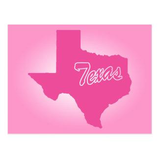 ピンクの州テキサス州 ポストカード