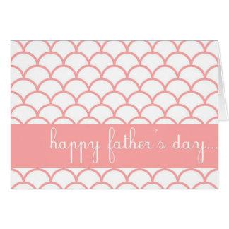 ピンクの帆立貝の端のカスタムで幸せな父の日カード カード
