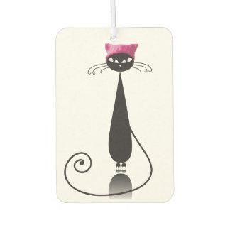 ピンクの帽子の子猫猫 カーエアーフレッシュナー