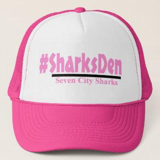 -ピンクの帽子を#SharksDen キャップ