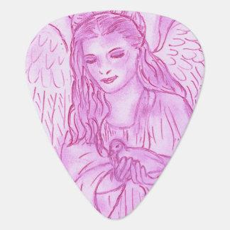ピンクの平和な天使 ギターピック