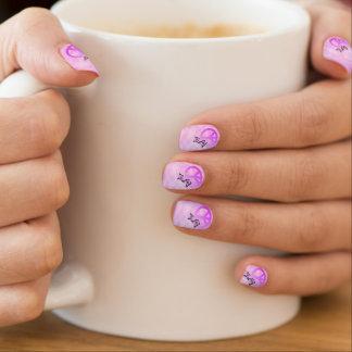 ピンクの平和 ネイルアート