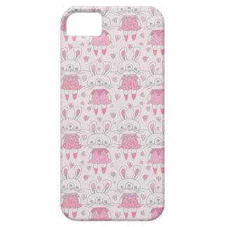 ピンクの幸せなバニー iPhone SE/5/5s ケース