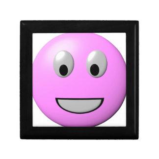 ピンクの幸せな顔のスマイリー ギフトボックス