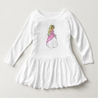 ピンクの幼児のひだの服のプリンセス ドレス