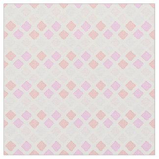ピンクの幾何学的なパターン生地のパート1 ファブリック
