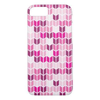 ピンクの幾何学的なパターン iPhone 8/7ケース
