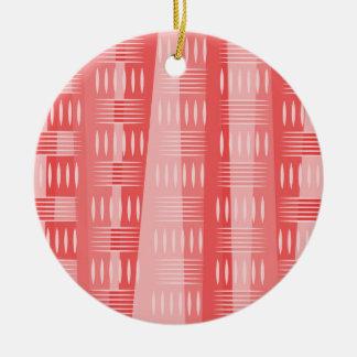 ピンクの幾何学的な型枠 セラミックオーナメント