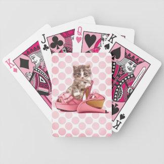ピンクの弓スリッパのメインのあらいぐま バイスクルトランプ
