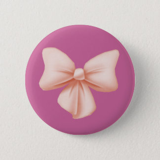 ピンクの弓ボタン 缶バッジ