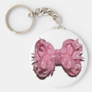 ピンクの弓 キーホルダー